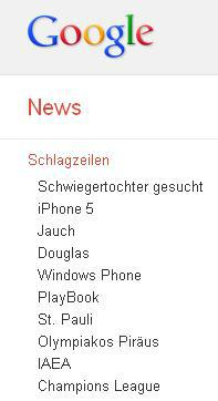 Bild: Screenshot Google News
